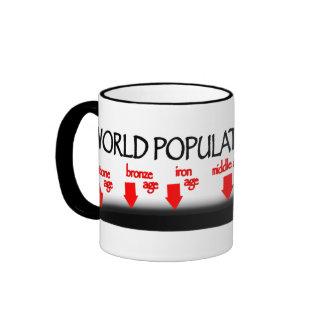 Cronología de la población de mundo tazas