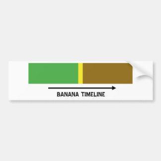 Cronología del plátano etiqueta de parachoque