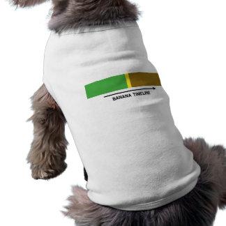Cronología del plátano camiseta de perrito