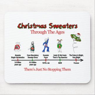 Cronología del suéter del navidad alfombrilla de ratones