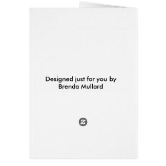 Cronológicamente dotado tarjeta de felicitación
