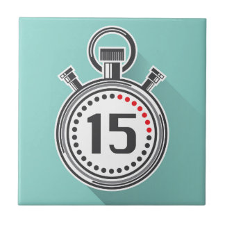 Cronómetro Azulejo Cuadrado Pequeño