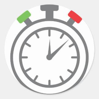 cronómetro - contador de tiempo de la alarma etiquetas redondas