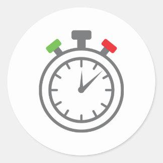 cronómetro - contador de tiempo de la alarma pegatina redonda