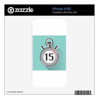 Cronómetro iPhone 4S Calcomanías