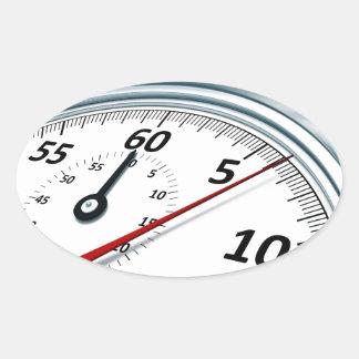 cronómetro pegatina ovalada