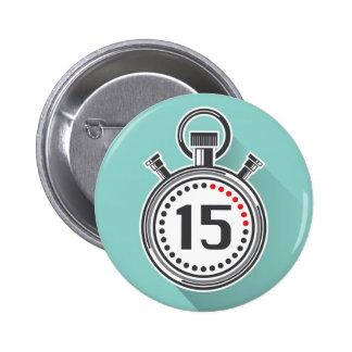 Cronómetro Pin Redondo De 2 Pulgadas