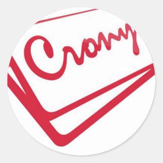 Crony Shop Classic Round Sticker
