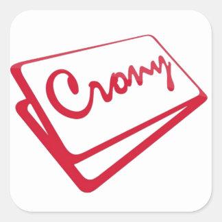 Crony Shop Square Sticker