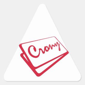 Crony Shop Triangle Sticker