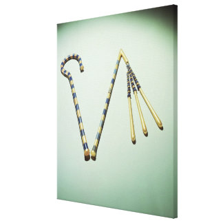 Crook and flail, from the Tomb of Tutankhamun Canvas Print