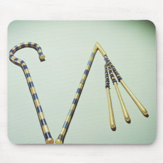 Crook and flail, from the Tomb of Tutankhamun Mouse Pad