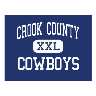 Crook County - Cowboys - High - Prineville Oregon Postcard