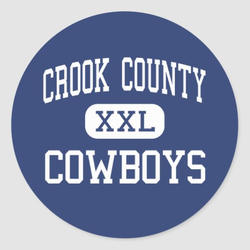 Crook County - Cowboys - High - Prineville Oregon Stickers