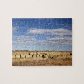 Crook County, Hay Bales Jigsaw Puzzle