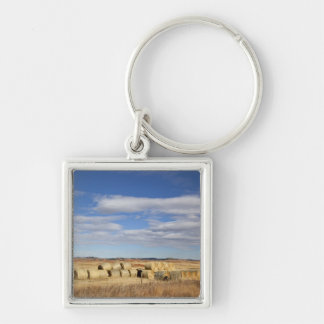 Crook County, Hay Bales Silver-Colored Square Keychain