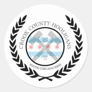 Crook County Hooligans Round Sticker