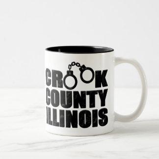 Crook County Illinois Two-Tone Coffee Mug