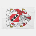 Crook Family Crest Hand Towel