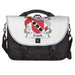Crook Family Crest Laptop Bags