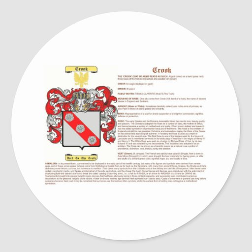 Crook (meaning(2) classic round sticker
