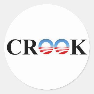 CROOK CLASSIC ROUND STICKER
