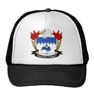 Crooke Family Crest Trucker Hats