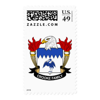 Crooke Family Crest Postage Stamps