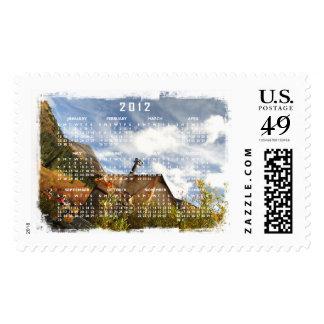 Crooked Cabin; 2012 Calendar Postage Stamp