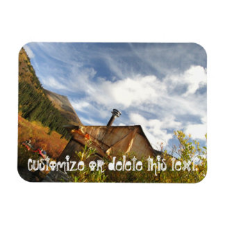 Crooked Cabin; Customizable Magnet