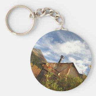 Crooked Cabin Basic Round Button Keychain