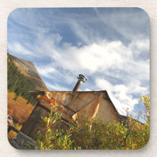Crooked Cabin; No Text Drink Coaster