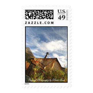 Crooked Cabin Postage Stamp