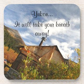 Crooked Cabin; Yukon Territory Souvenir Beverage Coaster