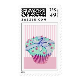 Crooked Cupcake pink Stamp