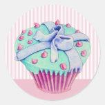 Crooked Cupcake pink Sticker