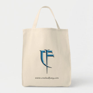 Crooked Fang logo tote grocery bag