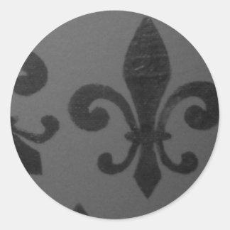 Crooked Fleur De Lis Classic Round Sticker