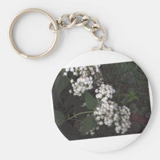 Crooked Flowers Basic Round Button Keychain