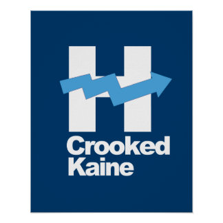 Crooked Hillary and Tim Kaine 2016 -- Poster