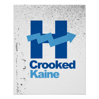 Crooked Hillary and Tim Kaine 2016 - Poster