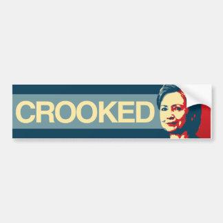 CROOKED HILLARY - Anti-Hillary Propaganda - -  Bumper Sticker