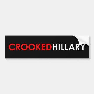 Crooked Hillary Bumper Sticker (Black)