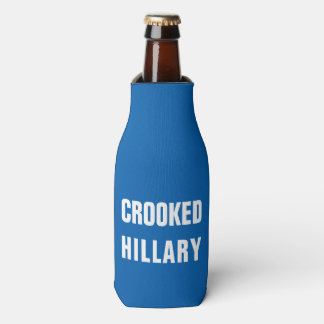 Crooked Hillary Clinton Bottle Cooler