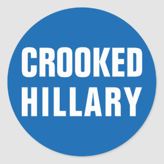 Crooked Hillary Clinton Classic Round Sticker