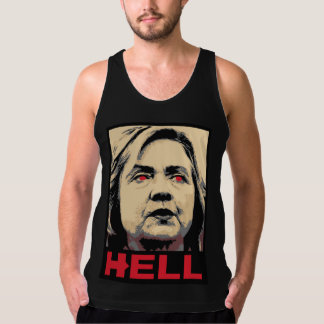 Crooked Hillary Clinton Hell – Anti-Hillary American Apparel Fine Jersey Tank Top