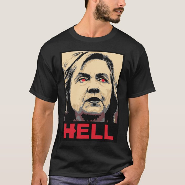 """/""""Lock Her Up/"""" T-Shirt hillary for prison hilary clinton vote trump for president"""