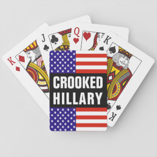 Crooked Hillary Clinton Playing Cards