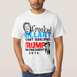 Crooked Hillary Donald Trump For President Funny T-Shirt