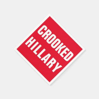 Crooked Hillary Elections 2016 Napkin